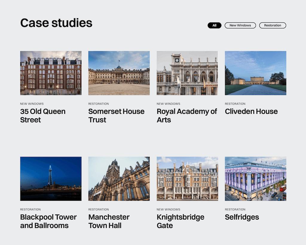 TRC Windows case study materials.