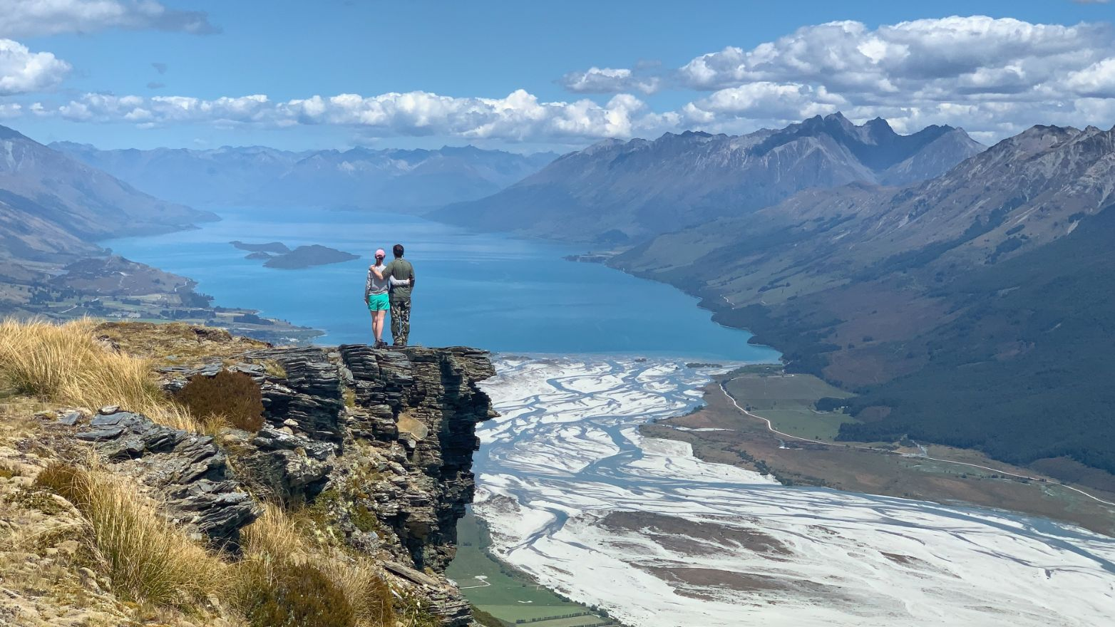 Looking out over the Dart River and Lake Wakatipu in Glenorchy