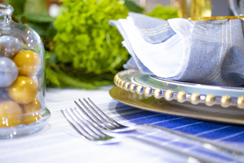 Jamie Hunt Decorating Festive Table