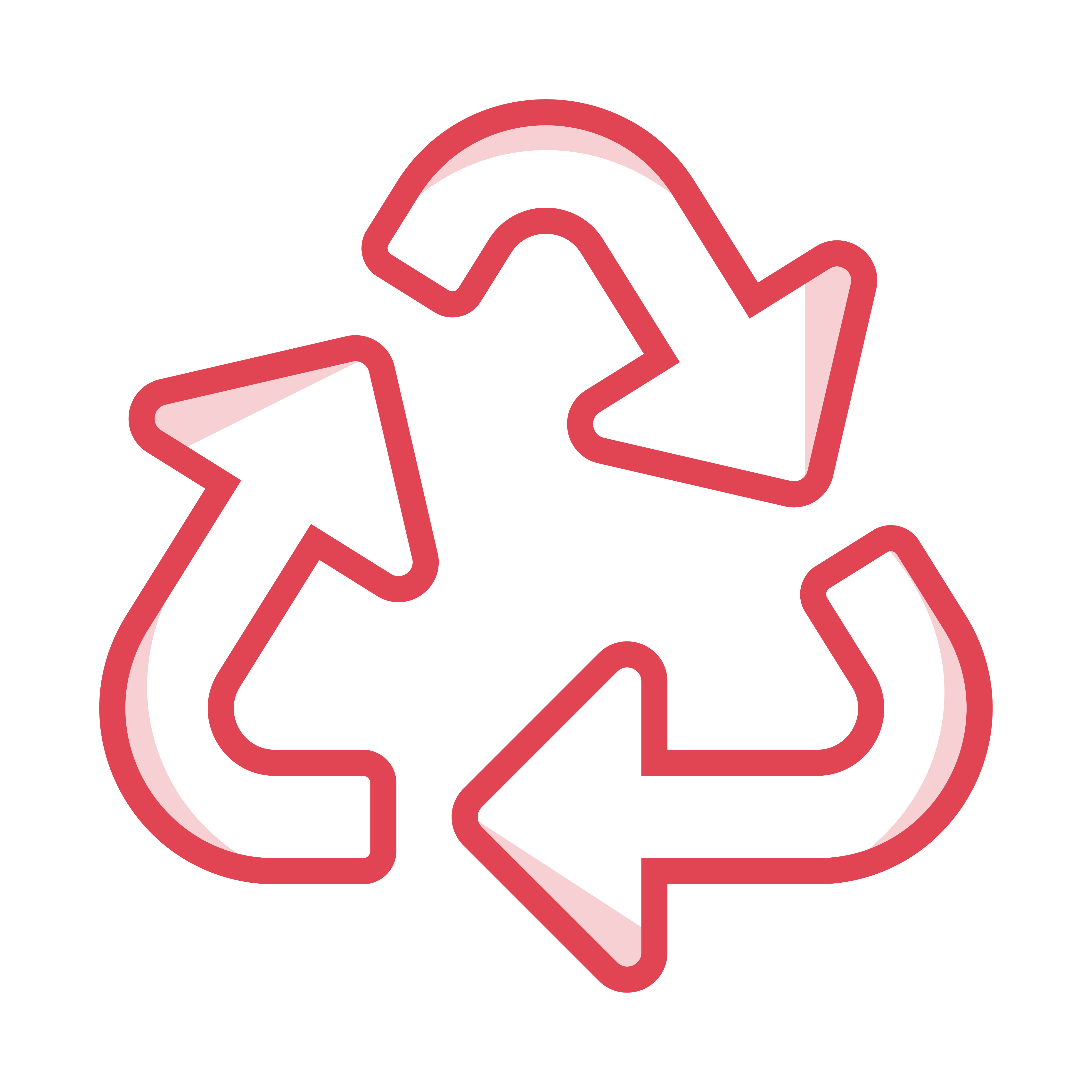Icon of a recycling triangle
