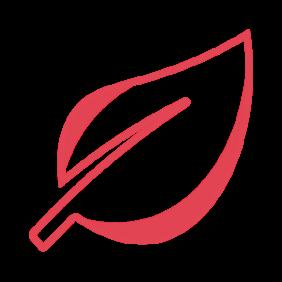 Icon of sustainability leaf
