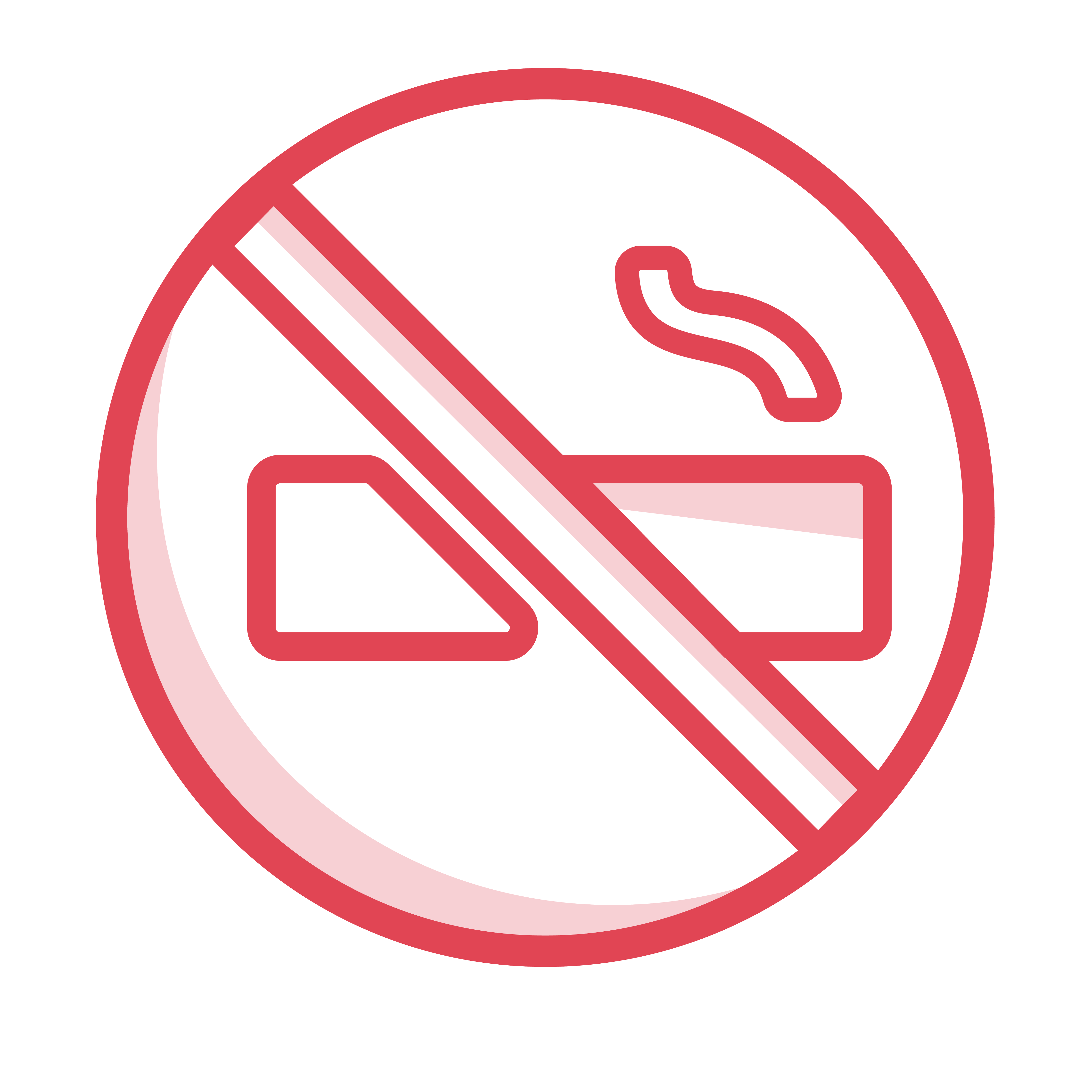 Icon of a no smoking symbol