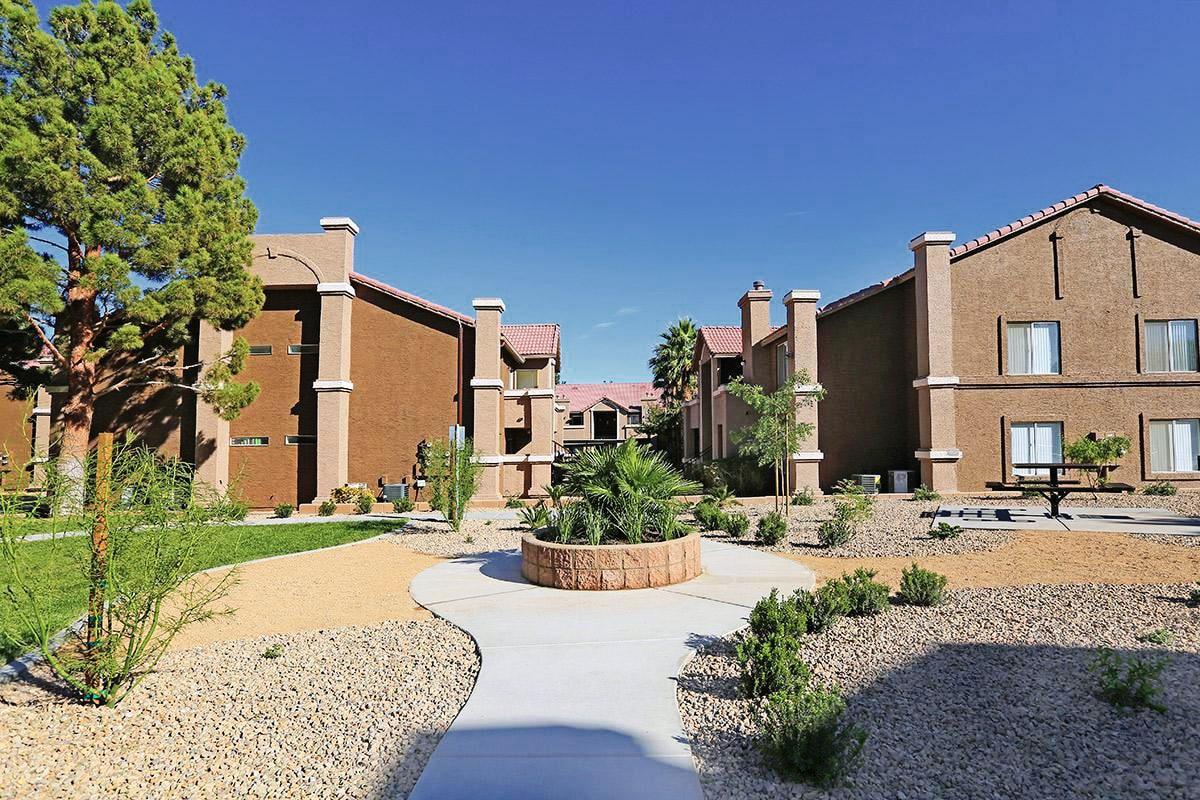 Walkway in Meadow Ridge housing complex