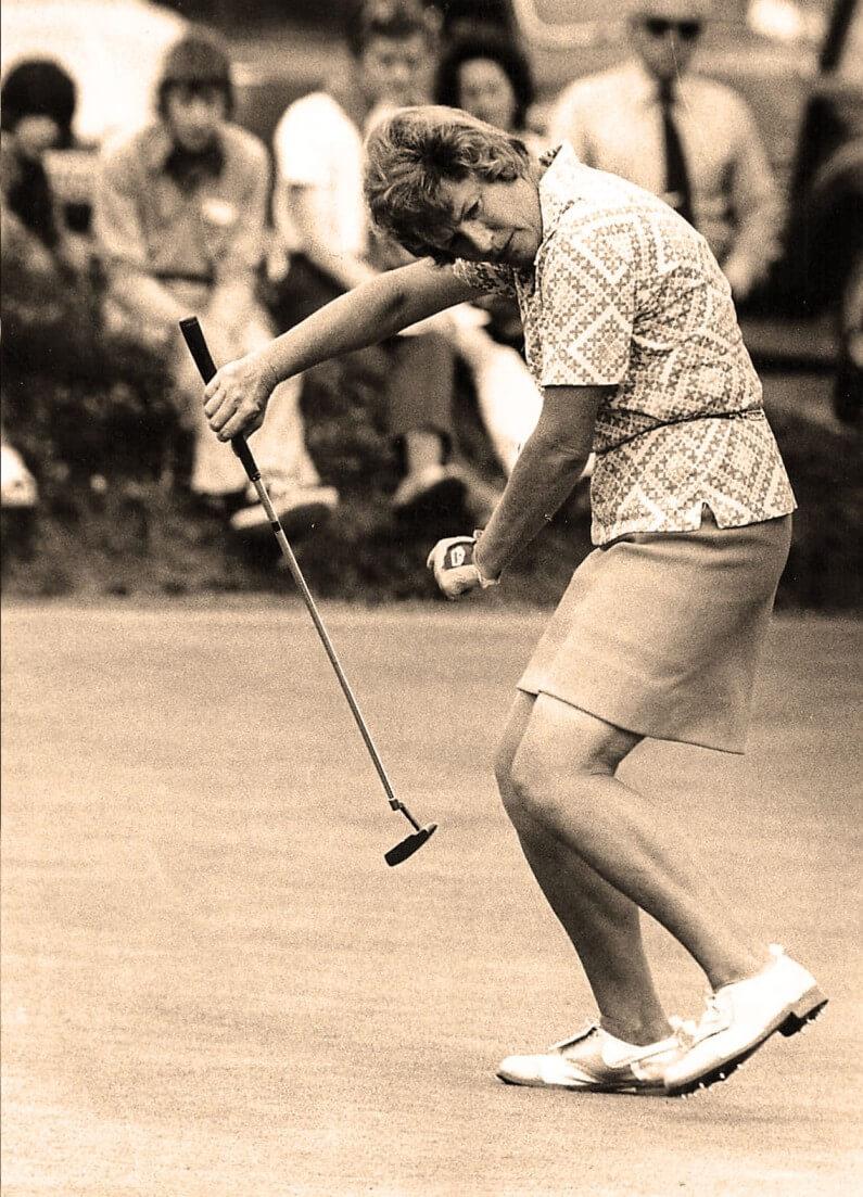 Marilynn Smith with club.