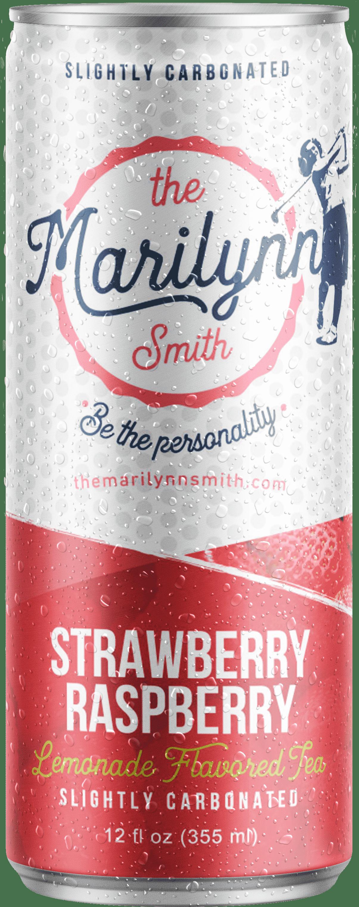 marilynn smith's strawberry iced tea in a 12oz can