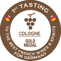 """GOLD at the competition """"The Best French Wine for Cologne"""""""