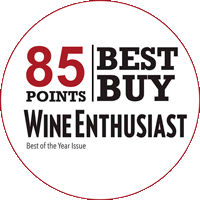 85/100 at the competition Wine Enthusiast of Cleveland