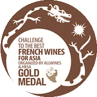 GOLD Medal at The Best French Wine for Asia Competition, Organized by Allwines