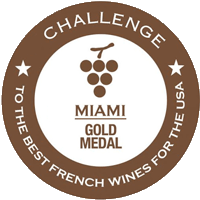 Gold Medal at Best French Wines for the USA,Miami, organized by Allwines