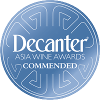 Commended Medal at the Decanter Asia Wine Awards