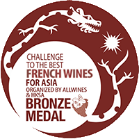 BRONZE Medal at The Best French Wine for Asia Competition, Organized by Allwines