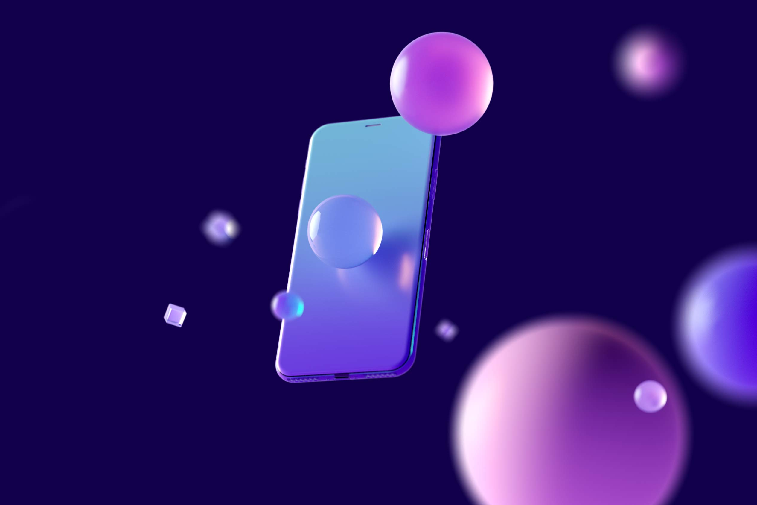 a-floating-cell-phone-with-bubbles