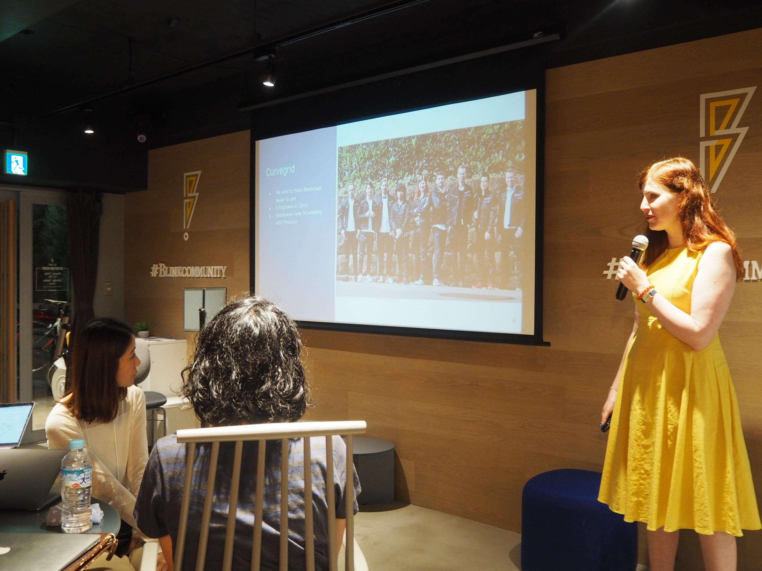 Ann presenting at WWC Tokyo