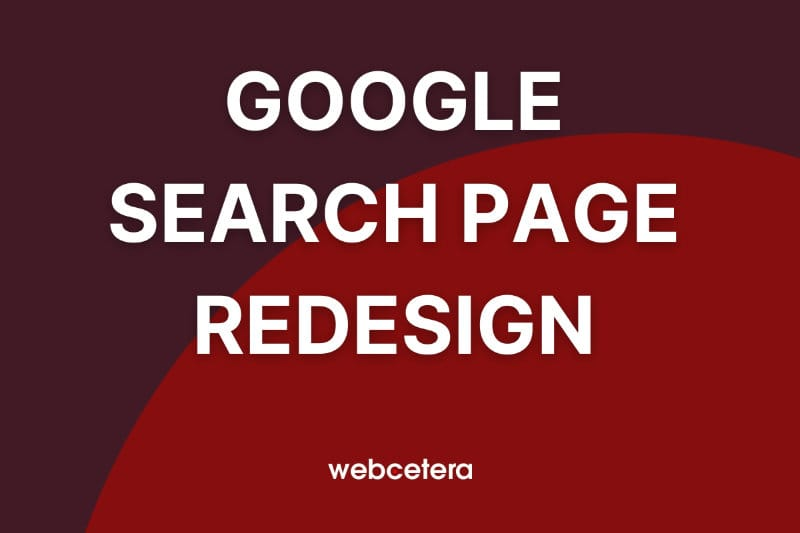 Google search page redesign