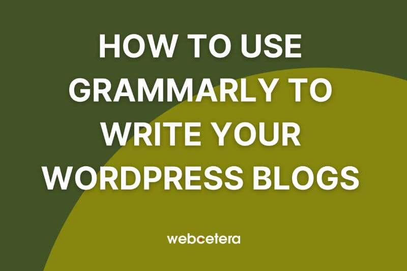 How to use Grammarly to write your WordPress blogs