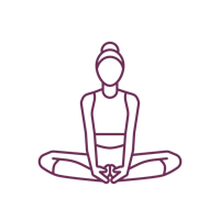 Woman sitting in a butterfly pose