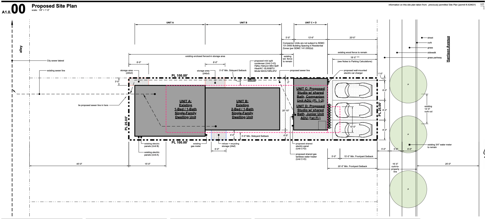 Proposed ADU Site Plan