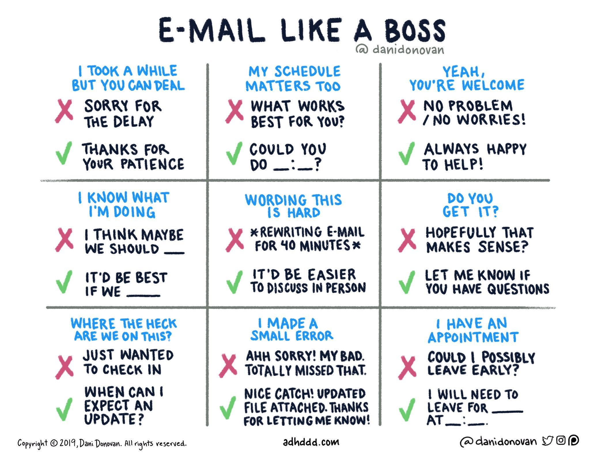 email like a boss by Dani Donovan