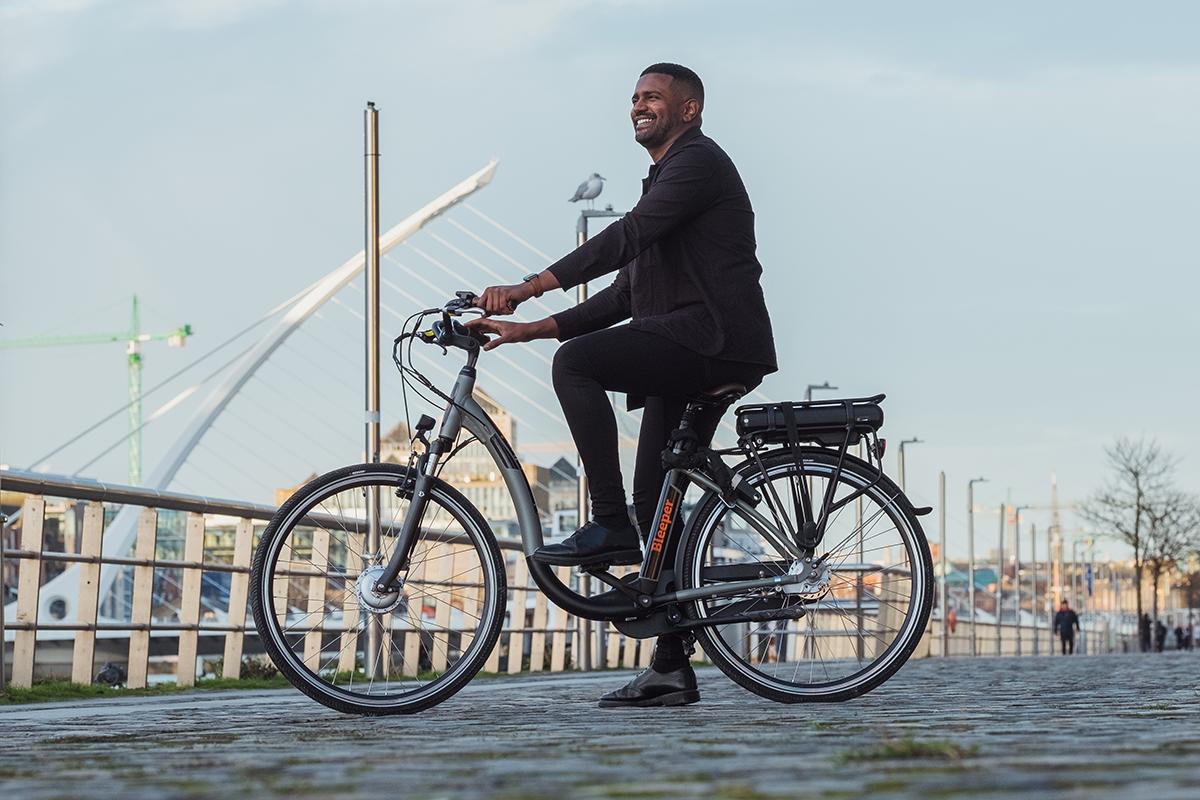 Bleeper Electric Private Scheme Bike Rental near the River Liffey in Dublin
