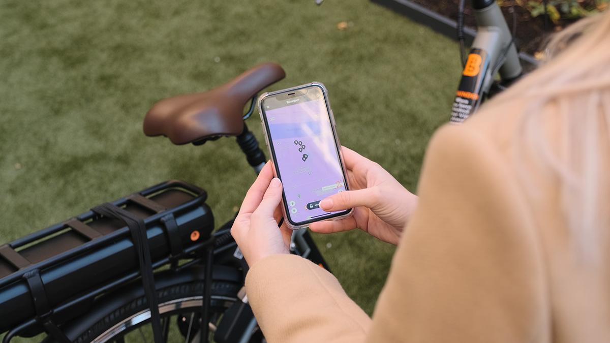 Using the Bleeper App to unlock a Private Scheme shared bike rental ebike