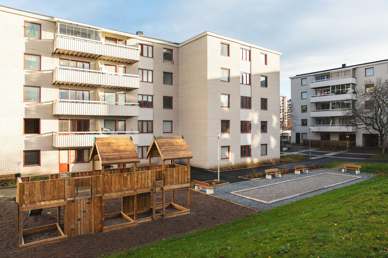 Innergård, Gårdsbjälklag, Markarbeten, Plantering, Dränering