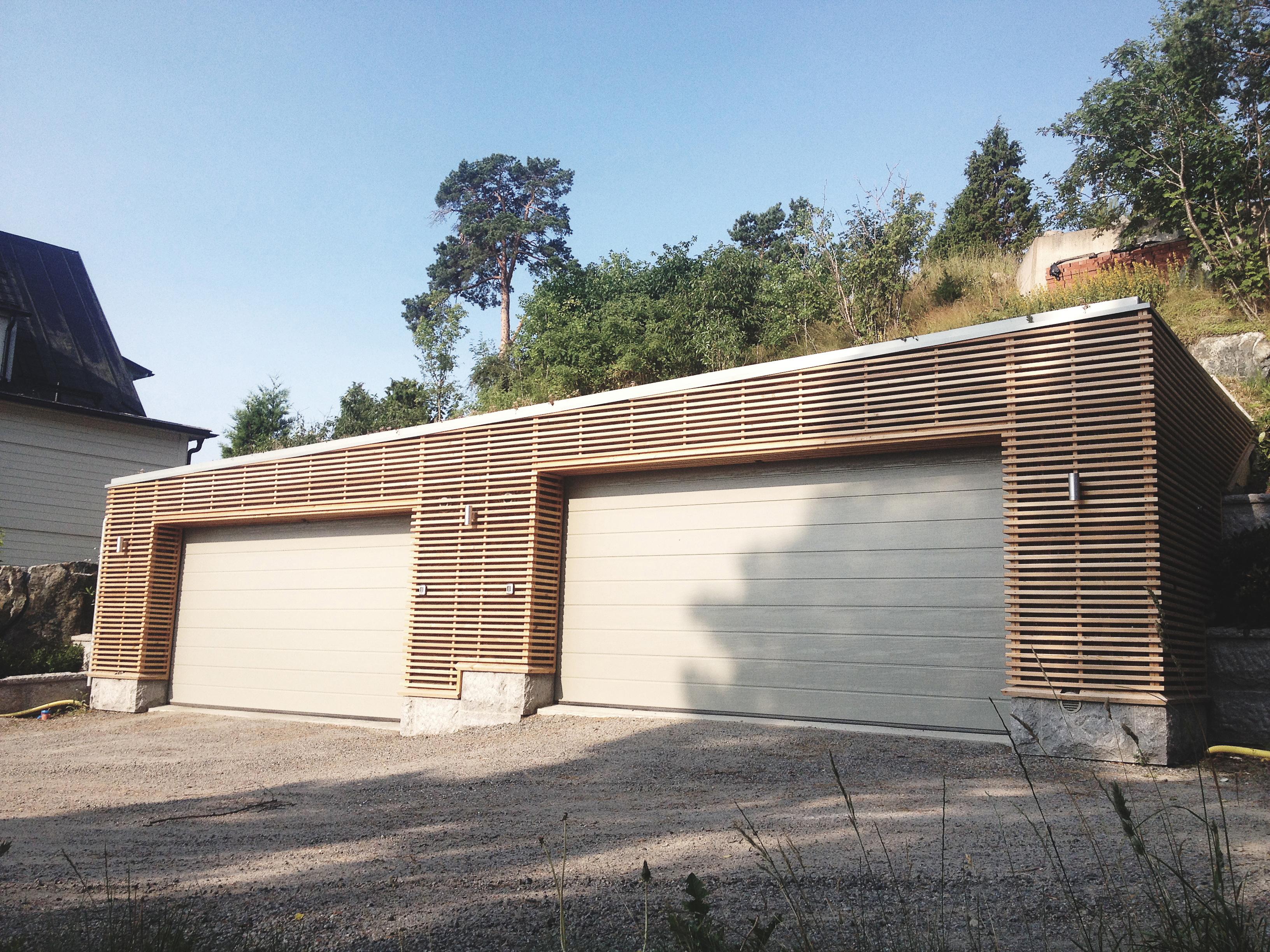 Garage, Bergsschakt, Murning, Betong, Lärk, Granit