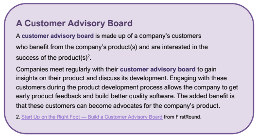 Sample informational box from The Making of Product Managers