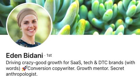 Eden Bidani's LinkedIn profile