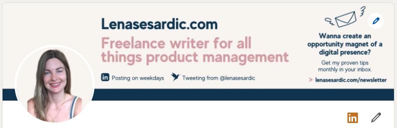 Lena Sesardic's LinkedIn profile
