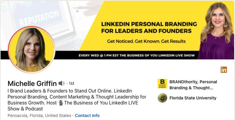 Michelle Griffin's LinkedIn profile