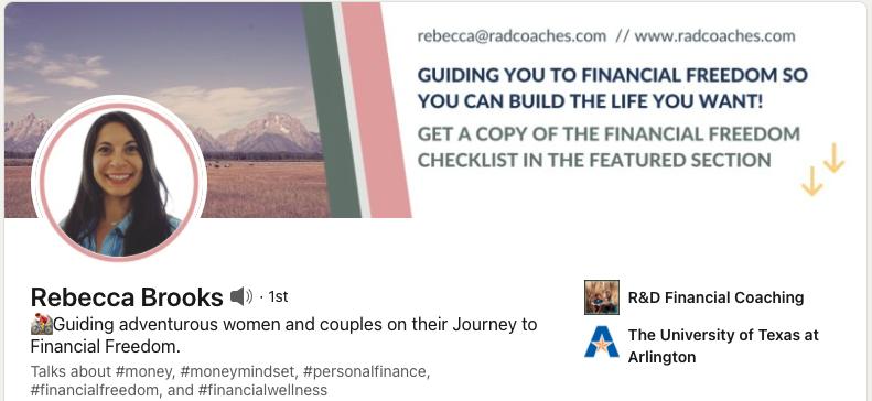 Rebecca Brooks' LinkedIn profile