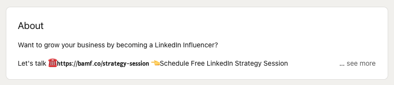Houston Golden's LinkedIn About section