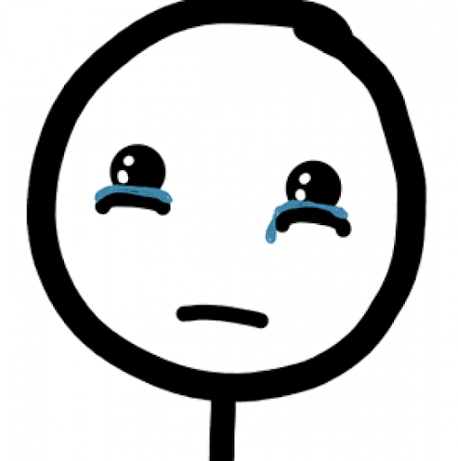 Cartoon of crying face