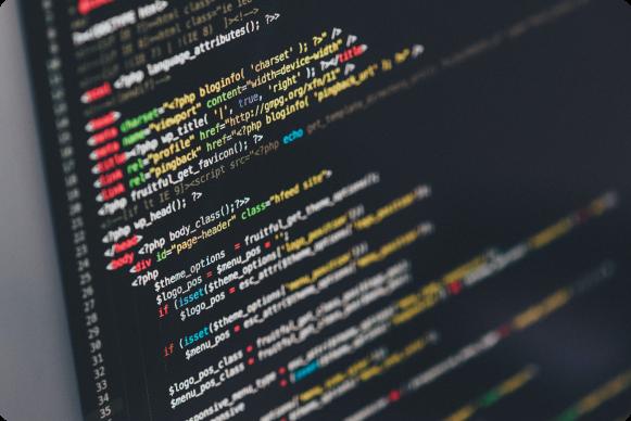 Bildskärm med kod