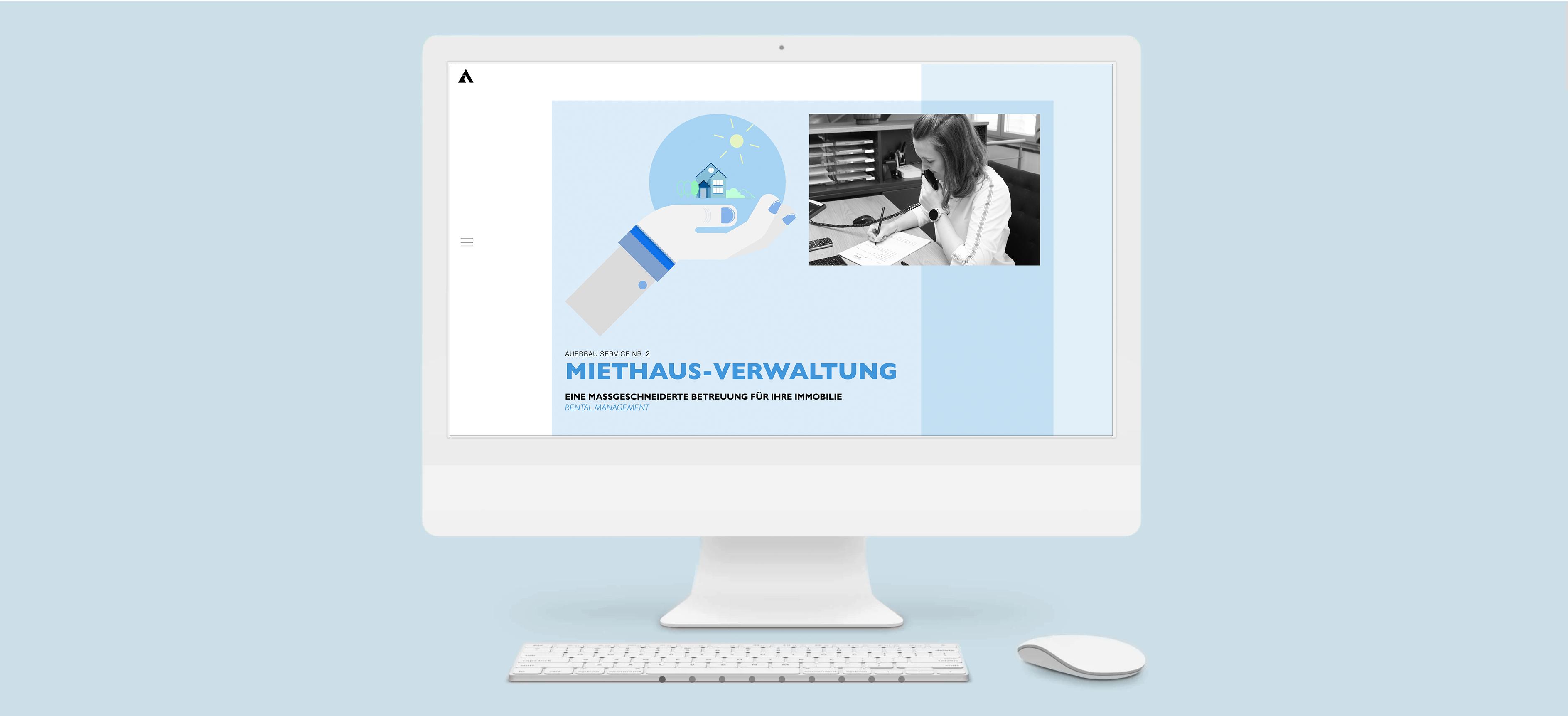 Webdesign und Website  Redesign für das  Immobilienbüro Auerhaus aus Rosenheim