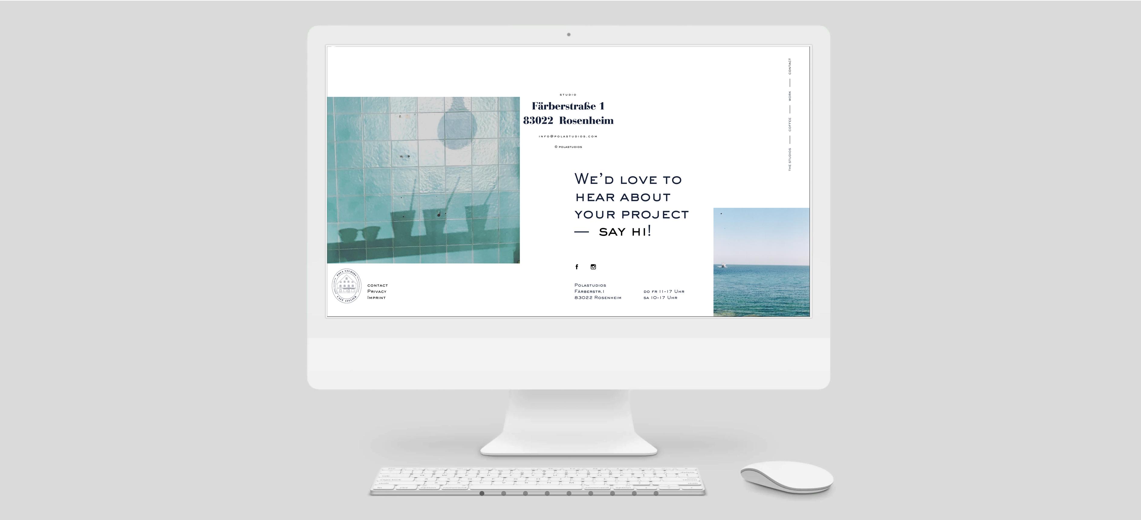 Webdesign und Responsive Design für Polastudios in Rosenheim