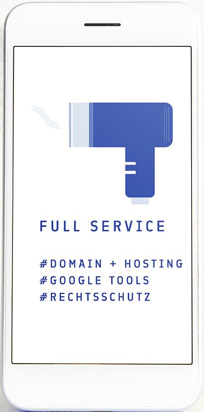 Full Service bei der  Blue Site - Go Digital mit dem Studio Blaue Seiten, deiner Webdesignagentur aus Rosenheim & München.