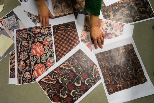 A moodboard from textile designer Elsa Chartin