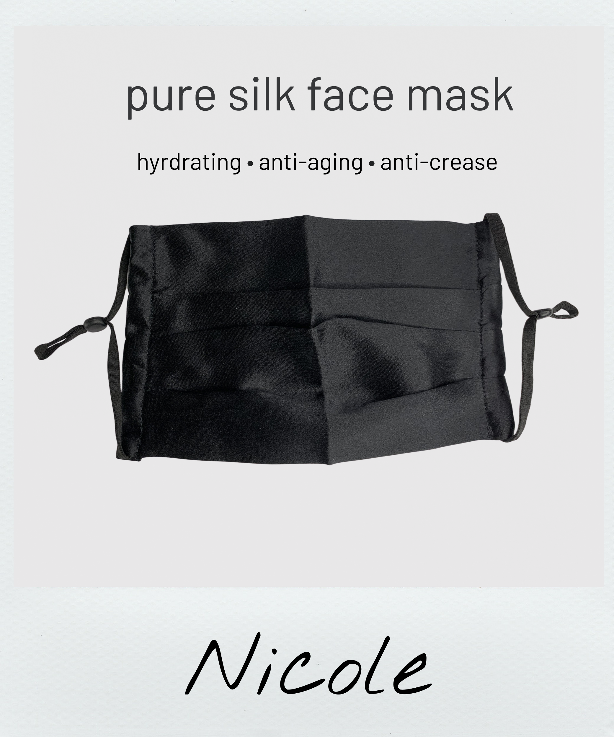 silk face mask for acne