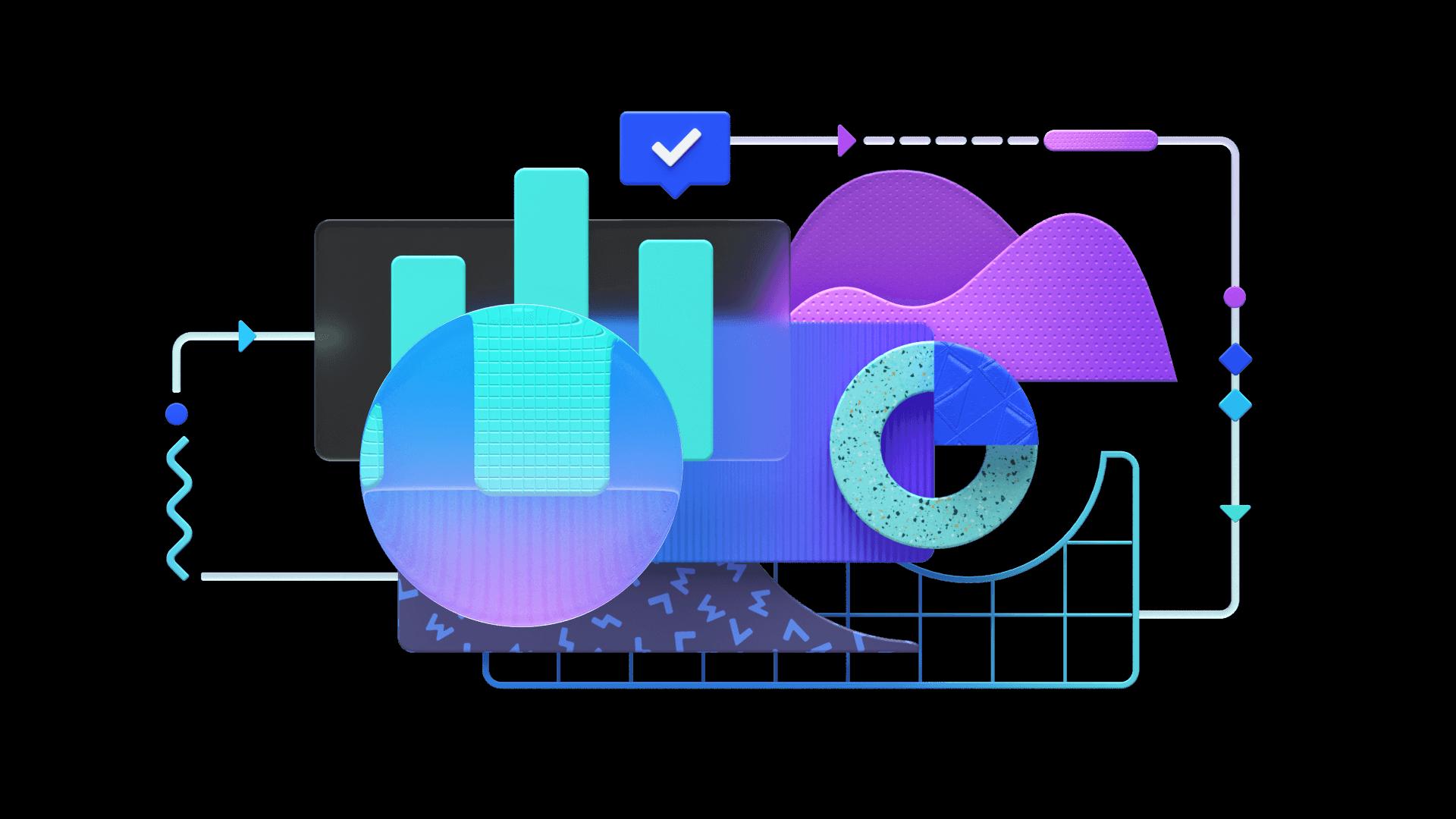 Colorful illustration showcasing Range's data services