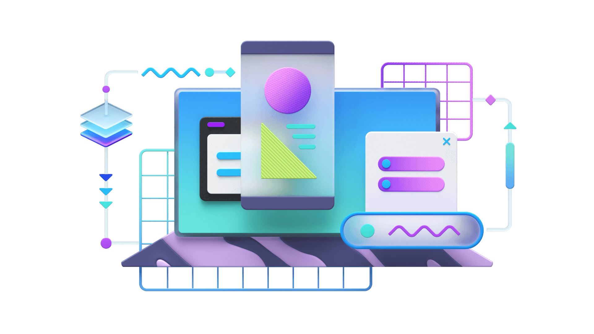 Colorful illustration showcasing Range's technology services