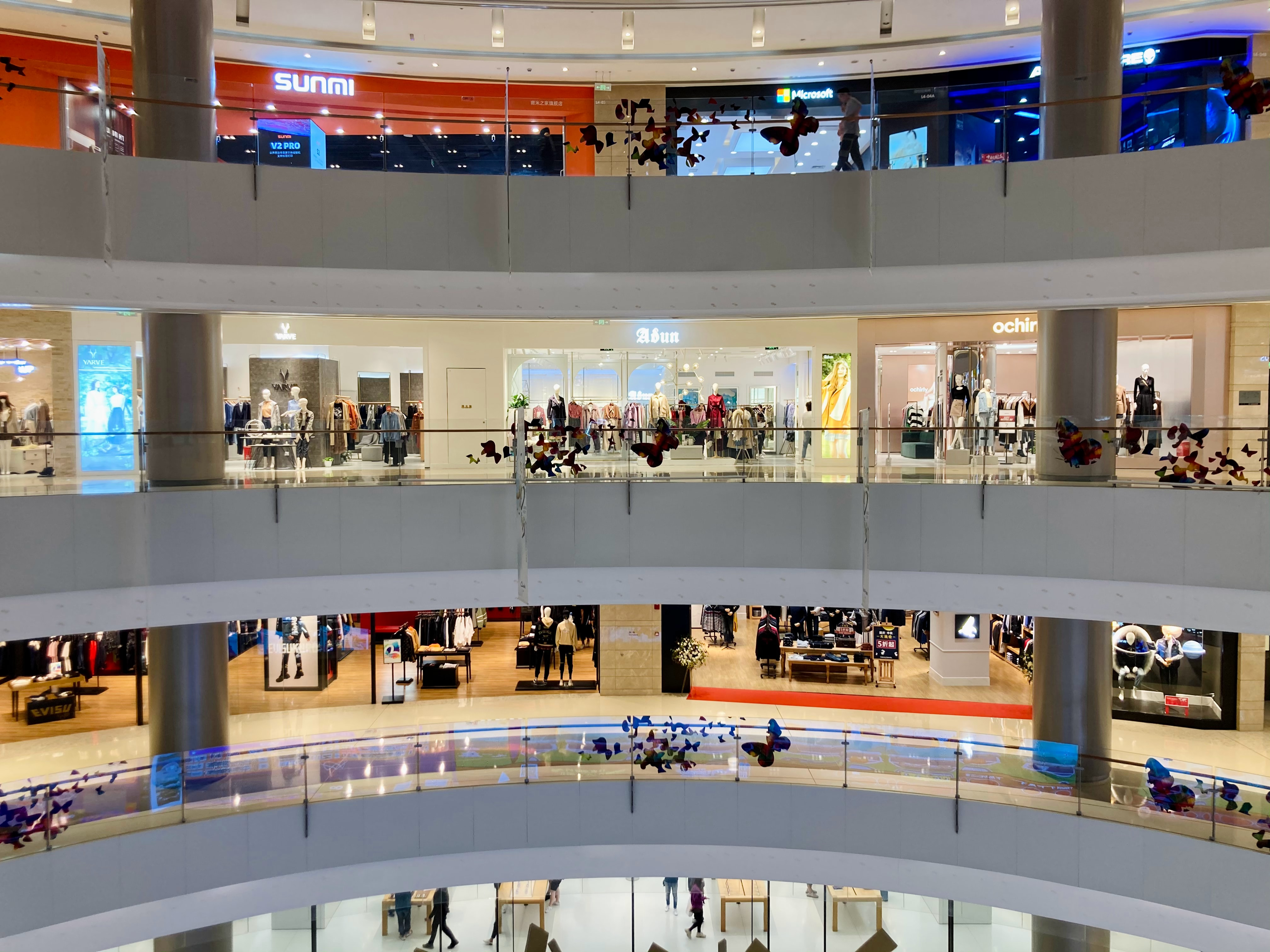 mall filled with stores