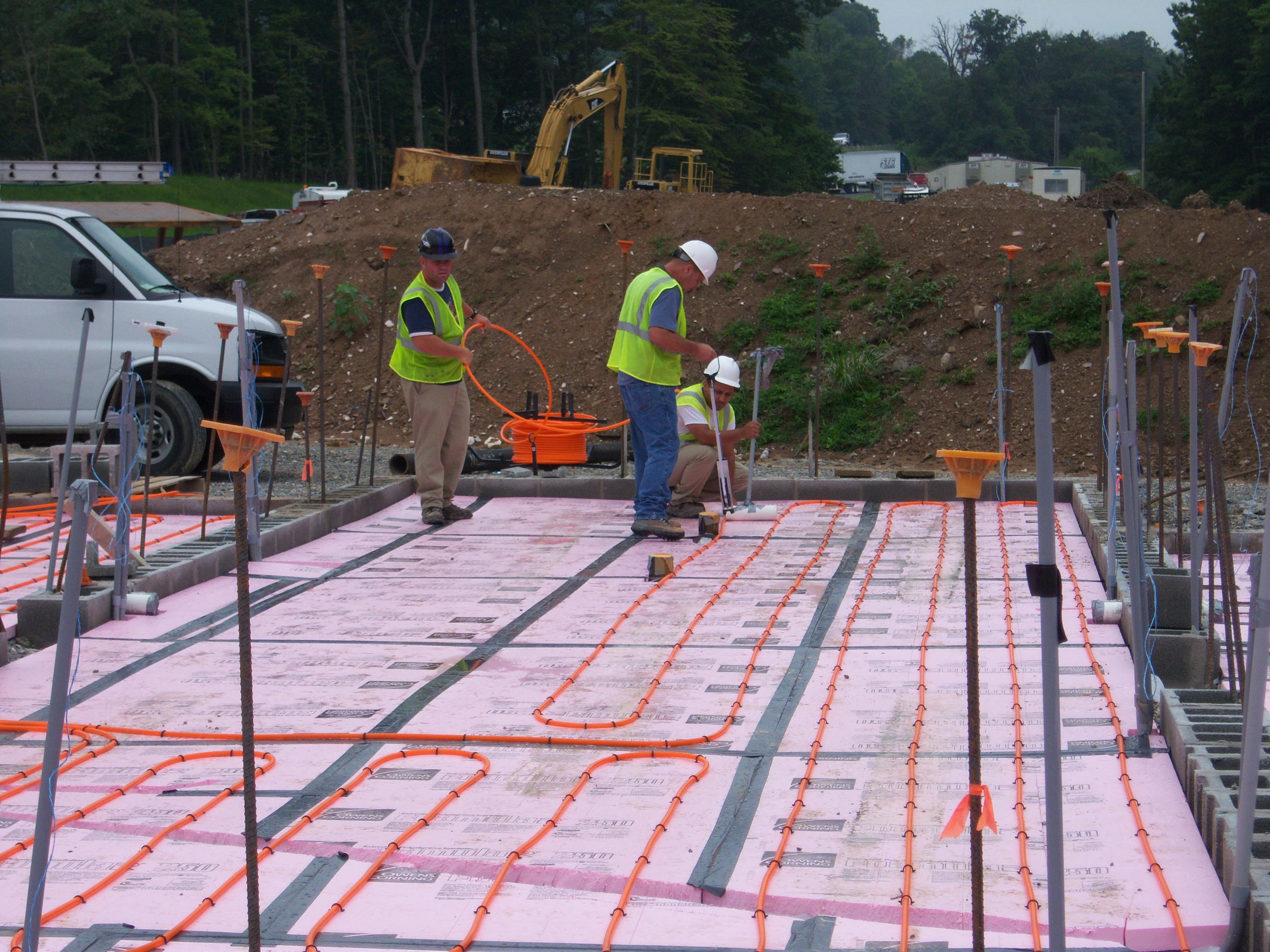 men working on new construction project