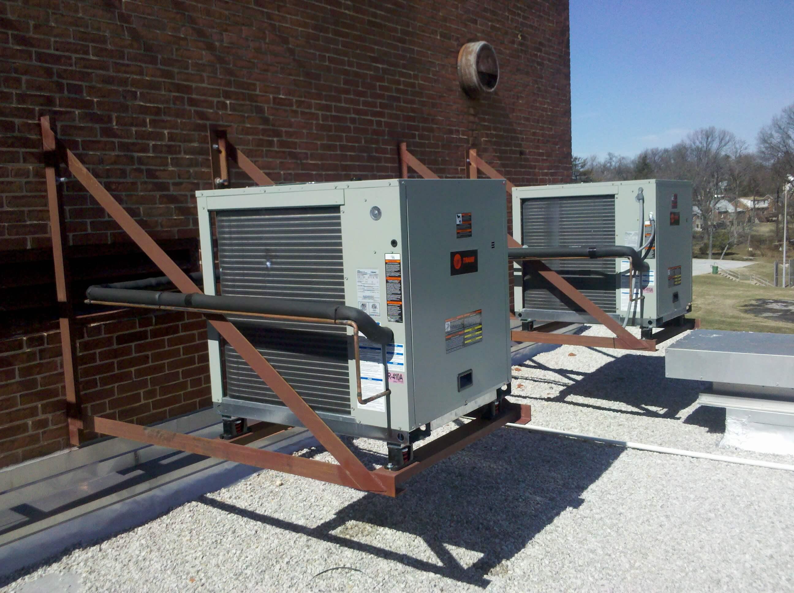 HVAC units outside