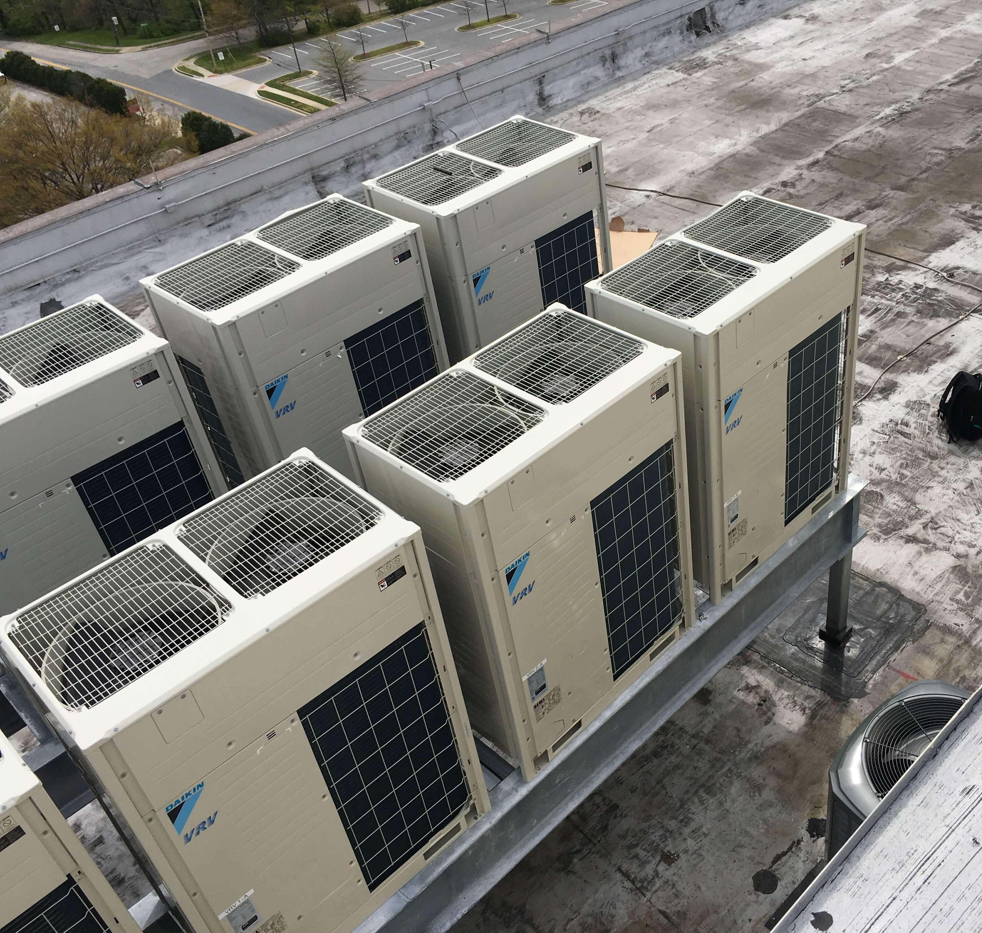 HVAC units outsitde