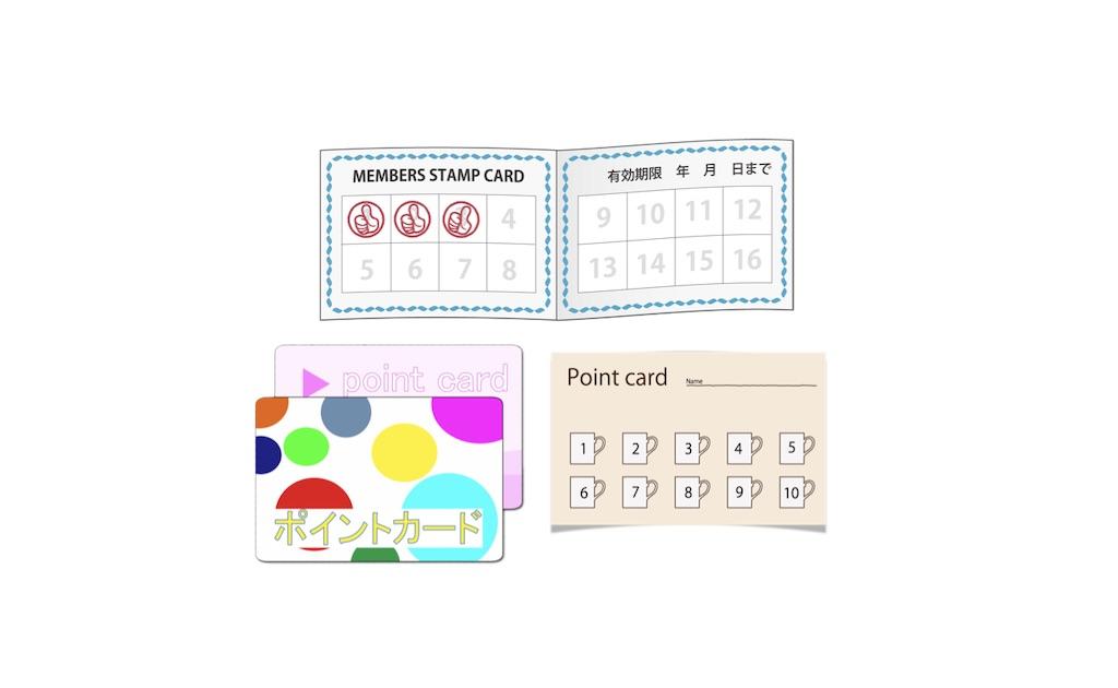 スタンプカードの種類