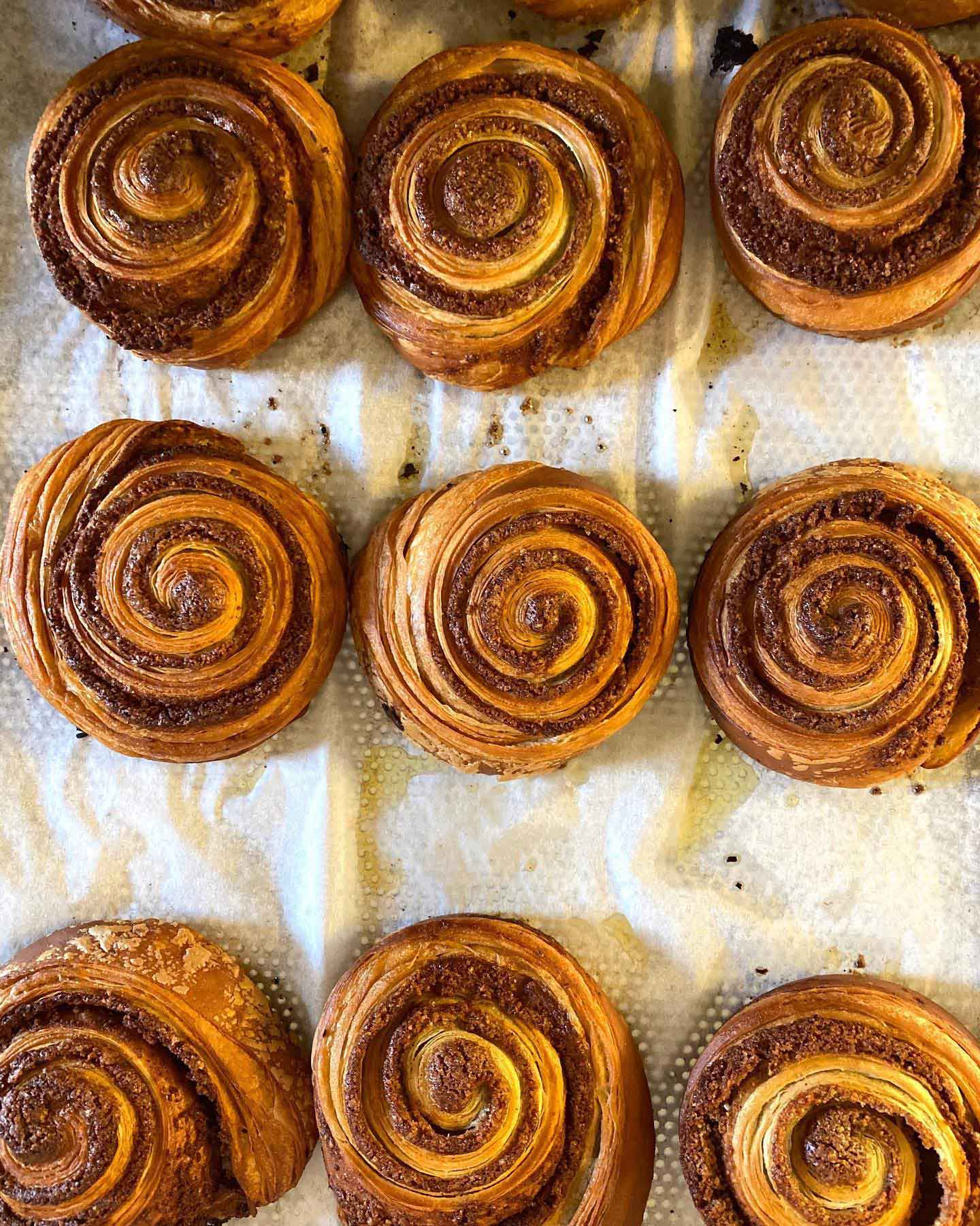 French cinamon rolls baked by Vincent