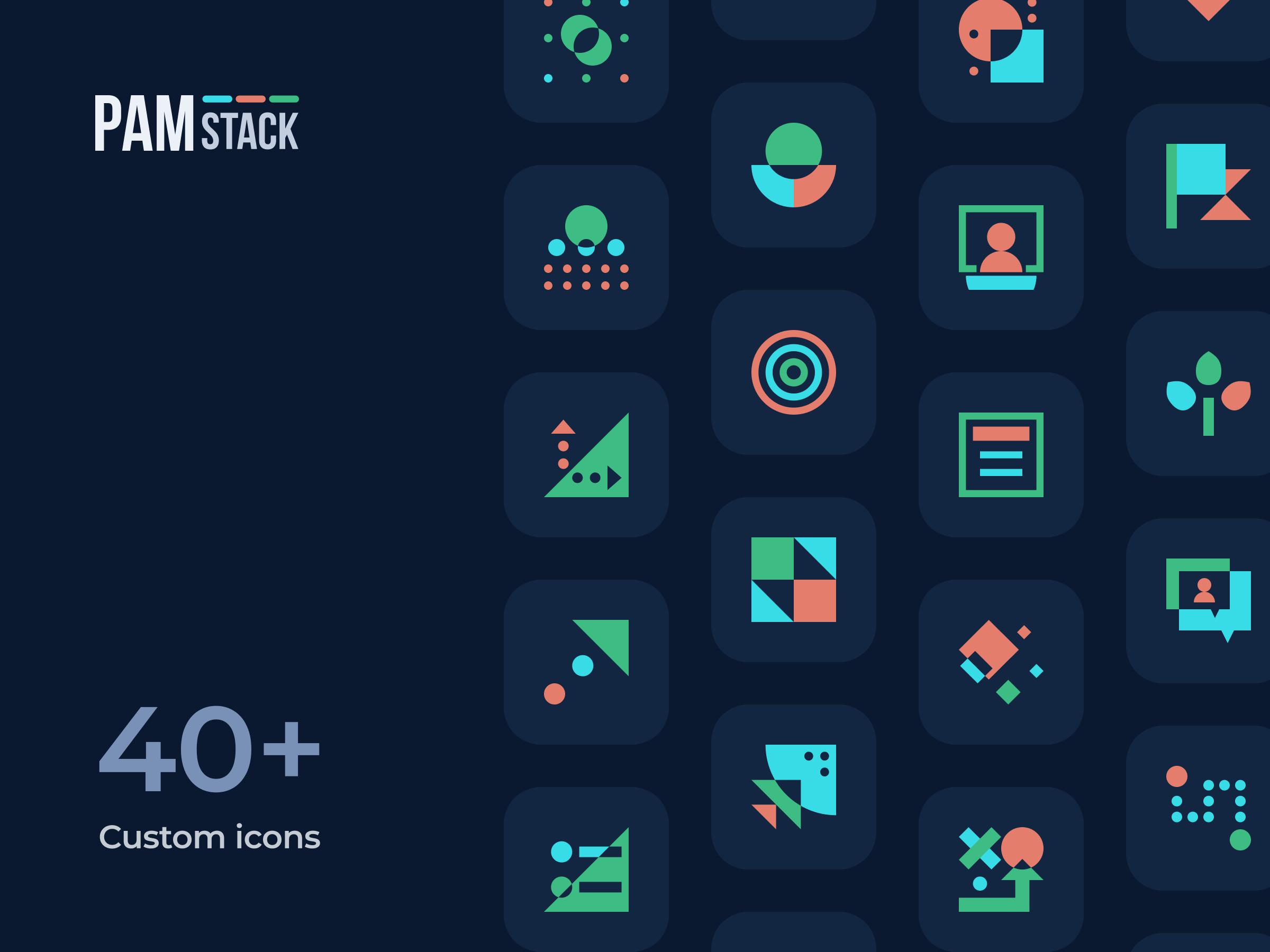 Custom icon set - PAM stack
