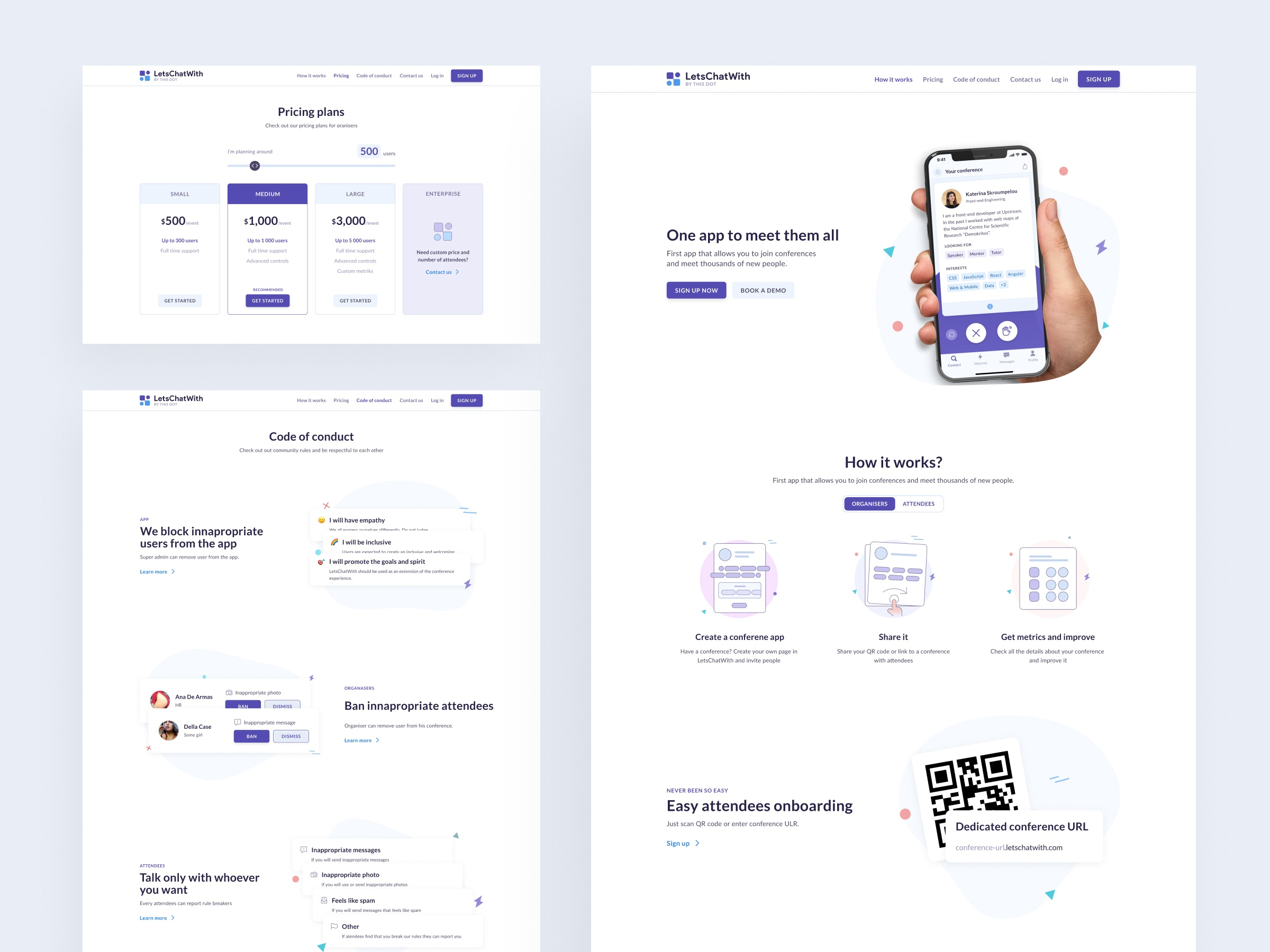 SaaS Webflow website LetsChatWith