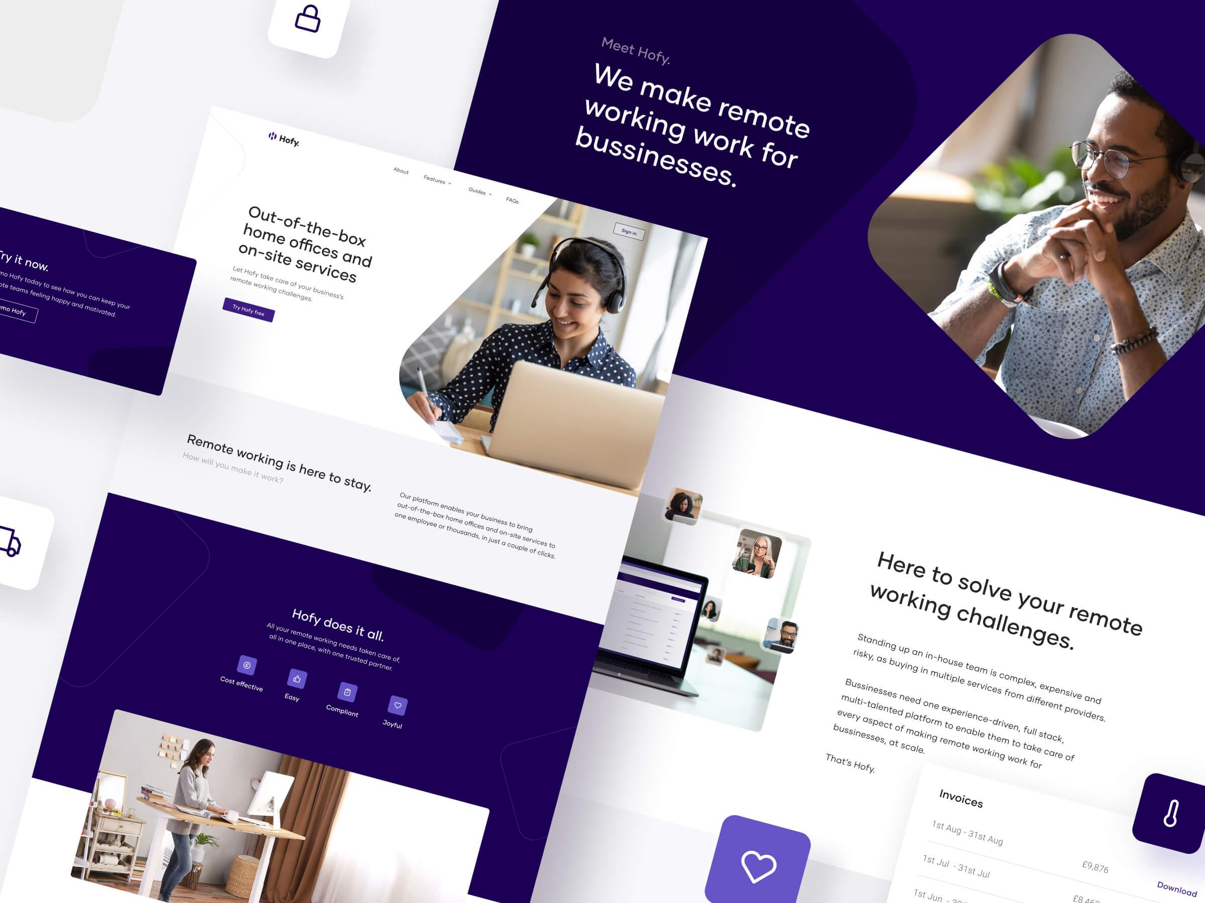 WFH management platform - Hofy
